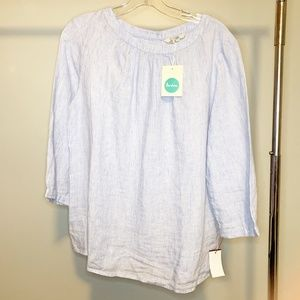 NWT Boden Chambray Peasant Top 10
